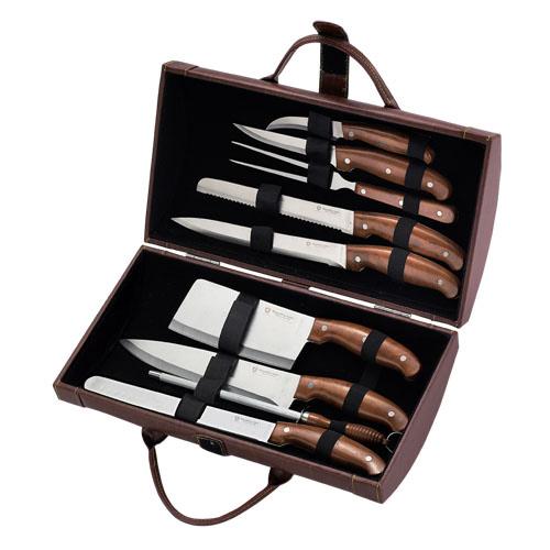 Cuchillo set con funda de transporte 10 piezas - Set de cuchillos royalty line ...