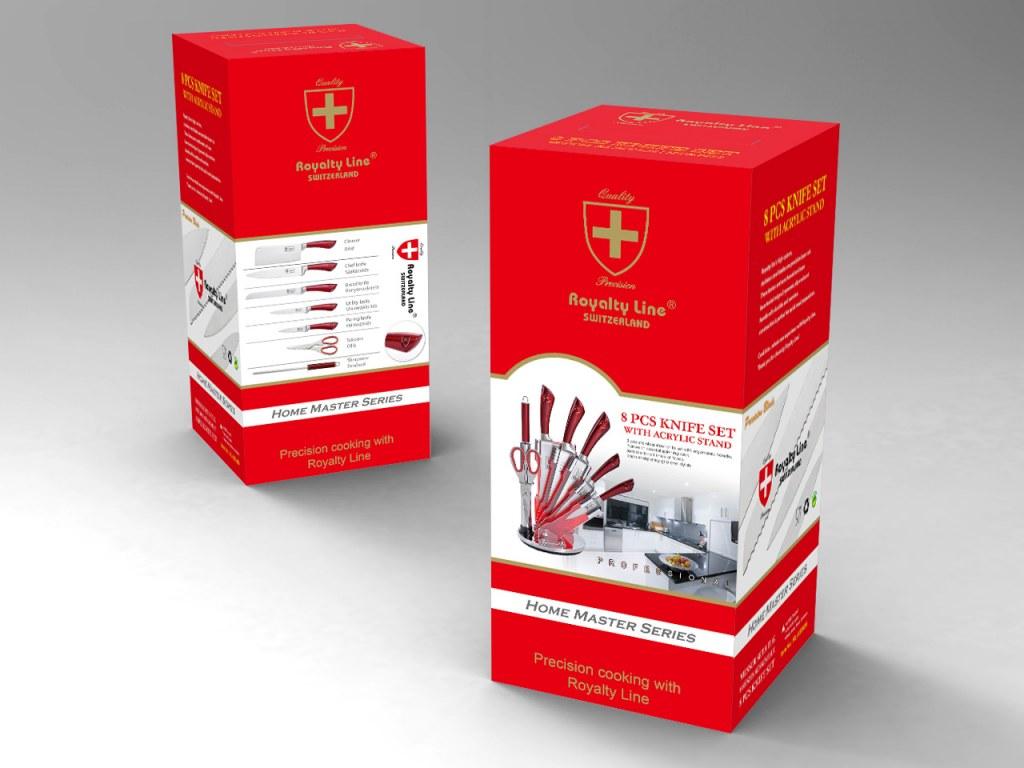Cuchillo set 8 piezas royaltyline rl kss804 mayorista - Set de cuchillos royalty line ...