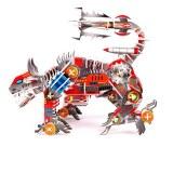 Puzzle 3D. Devastator y perro robot.