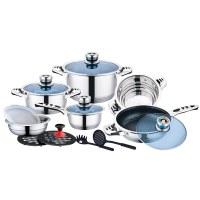 Mayerhoff CS-16-WR: Juego de utensilios de cocina de acero inoxidable de 16 piezas con...