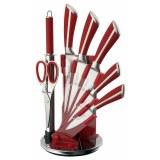 Mayerhoff MH-KN08C-K: Juego de cuchillos de acero inoxidable de 8 piezas con soporte de...