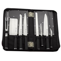 Mayerhoff MH-KN09-K: Juego de cuchillos de 9 piezas con bolsa de transporte