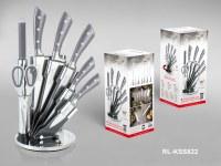 Royalty Line RL-KSS820; Set de cuchillos de acero inoxidable 8 piezas Gris