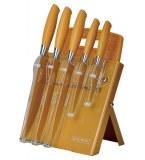 Royalty-Line RL- GLD7ST-W Juego de cuchillos 7 PCS