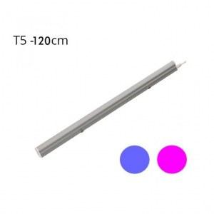 LOTE Regleta LED LUZ ROSA T5 18W 120º (1200mm)