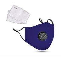 PM2.5M: Máscara De Algodón Lavable Con Filtros De Carbono 2 Azul