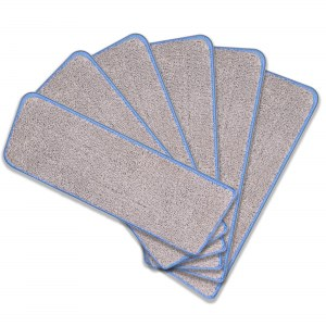 Cenocco CC-MOPM6: Juego de 6 Almohadillas de Repuesto para Fregona de Microfibra Lavables