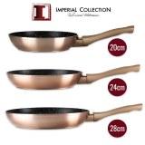 Imperial Collection IM-FFMT: Juego de 3 Sartenes Metálicas Revestidas de Mármol (20cm...)