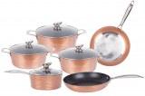 Herzberg HG-6019; Recubrimiento de mármol antiadherente utensilios de cocina de alumini...