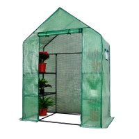 Herzberg HG-8002; Invernadero con ventanas