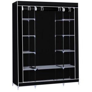 Herzberg HG-8009: Armario de almacenamiento - Grande Negro