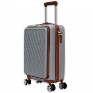 Herzberg Travel HG-8064SLV: Bolsa de Cabina - Plateado