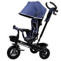 Kinderline TRC-711.1BLUE: 4 en 1 cochecito triciclo para bebés y niños pequeños - Azul