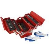 Mannsberger 808.606: Juego de herramientas de 121 piezas con caja de herramientas en vo...