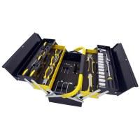 Manssberger 808.605: Juego de herramientas de 58 piezas con caja de herramientas en vol...
