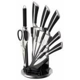 Mayerhoff MH-KN08B-K: Juego de cuchillos de acero inoxidable de 8 piezas con soporte de...