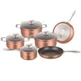 Royalty Line RL-FM10C: Juego de utensilios de cocina con revestimiento de mármol de 10...