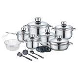 Royalty Line RL-1802: Juego de utensilios de cocina de acero inoxidable de 18 piezas co...