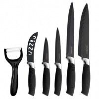 Royalty Line RL-BLK5-W; Juego de cuchillos 5 piezas y pelador