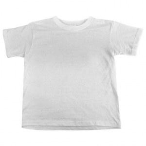 Camiseta de niño blanca algodón 100% 145g