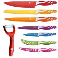 Royalty Line RL-COL7M; Set de cuchillos de color 8 piezas
