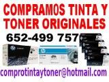Compramos cartuchos de tinta y toner originales nuevos EN TODA ESPAÑA HP, CANON, OKI,...