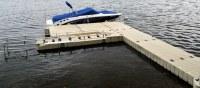 Custom Modular Floating Surfboat Boat Dock Marine System at Sea