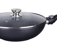 Imperial Collection IM-FWK28-DM; Wok de revestimiento veteado con mango desmontable 28cm