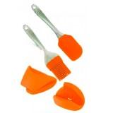 Euro Lady EL-4KHS: Herramientas Para Hornear de 4 Piezas Naranja