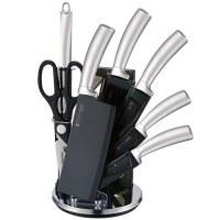 Imperial Collection IM-SHN8: Juego De 8 Cuchillos Con Soporte Plata